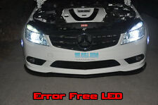 MERCEDES C Class W204 LED SIDELIGHTS  ERROR FREE CANBUS  SPORT cdi  WHITE 4pc