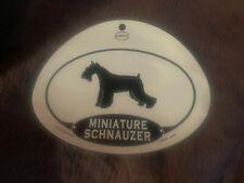 Euro Miniature Schnauzer Dog Oval Decal