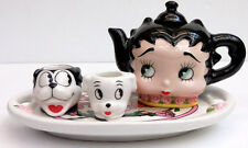 BETTY BOOP BED OF ROSES MINI TEA SET, VANDOR COMPANY, ITEM #10351