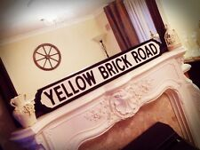 Elton John Inspired Yellow Brick Road Lyric Vintage Street Sign Wizard Of Oz