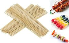 """12"""" Long 100 Wooden Bamboo Skewers BBQ Sticks Barbecue Kebab Grill Bar Party"""