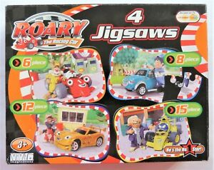 Roary the Racing Car Jigsaw Puzzle 4 in Box Used Complete Suit Age 3+