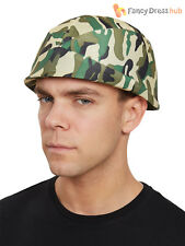 Adults Camouflage Army Helmet Mens Ladies Military Camo Fancy Dress Accessory