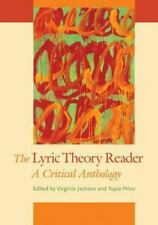 The Lyric Theory Reader : A Critical Anthology (2013, Paperback)