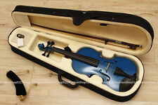 NEW Size 1/2 Natural Acoustic blue Violin + Case Bow Rosin