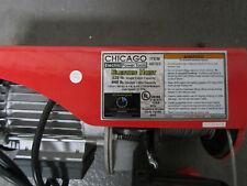 CHICAGO ELECTRIC 220LB SINGLE, 440LB DOUBLE ELECTRIC HOIST 40765