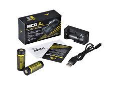 2 x XTAR 18500 IMR HIGH DRAIN 1100mAh 3.7V Li-ion Batteries & Xtar MC0 Charger
