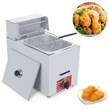 Commercial Countertop Gas Fryer 10L Fryer Propane(LPG) +1 Basket Stainless Steel