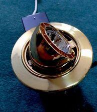 Mr-16 Adjustable Recessed Lighting Fixture . Polished Brass/gold Finish