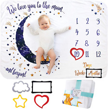 Baby Monthly Milestone Blanket Girl Or Boy, Unisex | Month Blanket Baby For | |