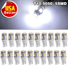 20x Cool white T10 Wedge 5-SMD 5050 LED W5W 194 168 2825 192 Interior light Bulb
