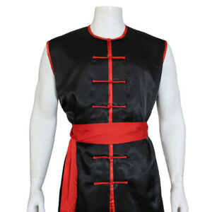 Sleeveless Kung Fu Tai Chi Uniform Martial Arts Suit Nanquan Shaolin Outfit Sets