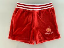 NEW BABY GAP Kids GIRL'S Red Hawaiian Flower Velour Pull-On SHORTS Pants 4Y 4T