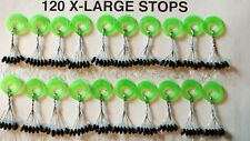 120 X-LARGE RUBBER TUNGSTEN FLIPPING WEIGHTS STOPS and worm weights