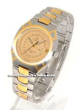 Runde Quarz-Armbanduhren (Batterie) mit Datumsanzeige und OMEGA