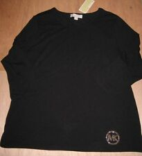 3/4 Sleeve Solid Basic Tees for Women