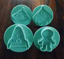 ASTRONAUT SPACESHIP ROCKET UFO COOKIE CUTTER MOLD FOR CANDY CHOCOLATE FONDANT