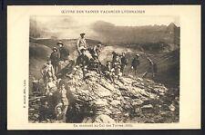 Carte Postale VACANCIERS LYONNAIS au COL des TURRES (Hautes Alpes) en 1924
