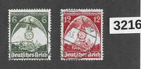 #3216   1935 Sc465-66  Party congress Nuremberg stamp set / Third Reich Germany