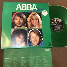 ABBA Love Sounds Special JAPAN-ONLY GREEN COLOR LP DSP-3027 PROMO STICKER+INSERT