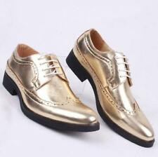 New Fashion Mens Oxford Brogue Casual leather wingtip lined formal Dress Shoes