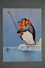 R&L Postcard: Modern, Athena  9701 Penguin Pool, Fishing