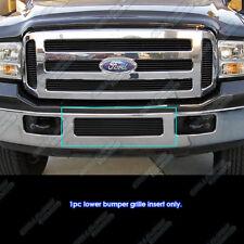 For 2005-2007 Ford F250/F350 Super Duty/Excursion Black Bumper Billet Grille
