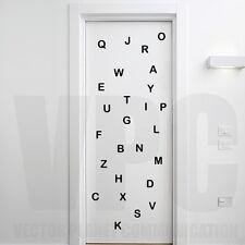 wall stickers 26 lettere adesive alfabeto decoro camera bambini scuola