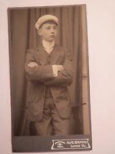 Lage i. Lippe - Student o. Schüler mit Mütze 1909 Ant. Willeke CDV / Studentika