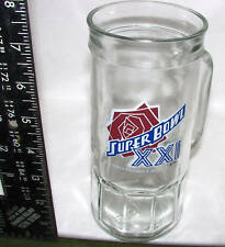 Super Bowl XXI Rose Bowl Stadium 1987 Pasedena Glass