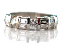 1.28 CT Natural Diamond Lady's Wedding Band VS1/G 14K White Gold