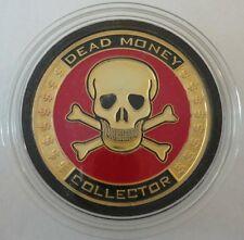 DEAD MONEY COLLECTOR Skull brass poker Card Guard Protector