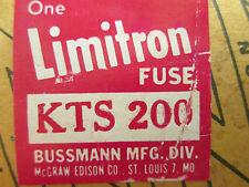 LIMITRON KTS200 FUSE KTS 200 600 VOLT 200 AMP KTS New Surplus