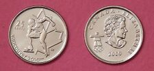 Brilliant Uncirculated 2009 Canada Speed Skating 25 Cents From Mint's Roll