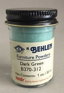 DARK GREEN Behlen Furniture Powder (Dry Pure Pigment Color) 1 oz FREE SHIP!