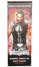 Seth Rollins WWE Wrestlemania XXXI 31 2-Sided Street Banner ~ Santa Clara WM 31