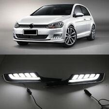 2x LED Daytime Running Light DRL Fog Lamp For Volkswagen Golf 7 VW MK7 2015 -17
