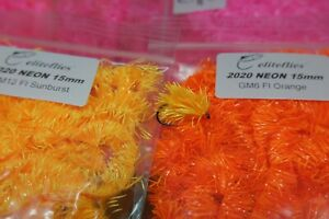 eliteflies Neon-2020 15mm GM Blob Fritz t 15 fly fishing tying chenille trout