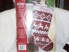 Bucilla Felt Stocking SWEATER KNIT Maria Stanziani Sealed Christmas Reindeer