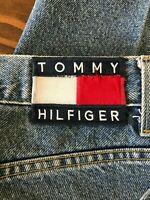 Vtg 90s TOMMY HILFIGER Men's Denim Tommy Jeans 40x30 BIG PATCH