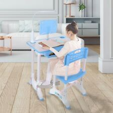Home With Tilted Desktop And Drawer Height Adjustable Study Desk And Chair Set