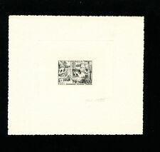 Cameroun 1956 FIDES / Manufacturing Scott 328 Signed Sunken Die Artist Proof