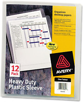 72960-4 Pack Three-Hole Punched Corner Lock Avery® Plastic Sleeves