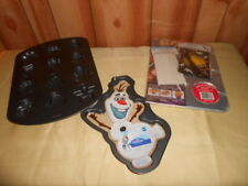 Lot 3 Wilton Cookie Pans Holiday Halloween Christmas plus Olaf