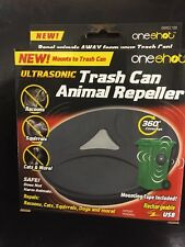 OneShot Ultrasonic Trash Can Animal Repeller USB Rechargeable 360 Coverage NEW