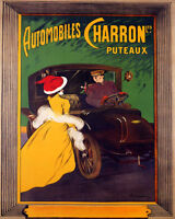 POSTER AUTOMOBILES CHARRON PUTEAUX FRENCH CAR CAPPIELLO VINTAGE REPRO FREE S/H