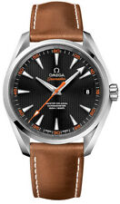 231.12.42.21.01.002 Omega Seamaster Aqua Terra 150m Brown Band Black Dial Watch