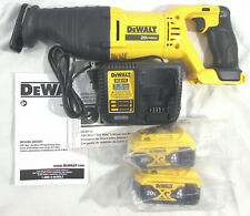 DeWalt Dcs381 20V Max Reciprocating Saw, 2- Dcb204 4Ah Batteries, Dcb115 Charger