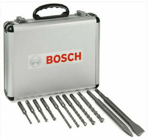 BOSCH 2608578765 Drill Bit Set With Chisels 11 Pcs. SDS Plus Hammers