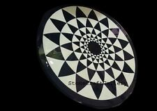 """24"""" x 24"""" Black Marble Dining Center Table Top Handmade Inlay Work"""